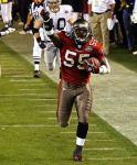 2002, Buccaneers LB Derrick Brooks: 88 tackles, 5 INT, 1 sack, 1 forced fumble, 4 TD