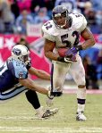 2000, Ravens LB Ray Lewis: 107 tackles, 3 sacks, 2 INT