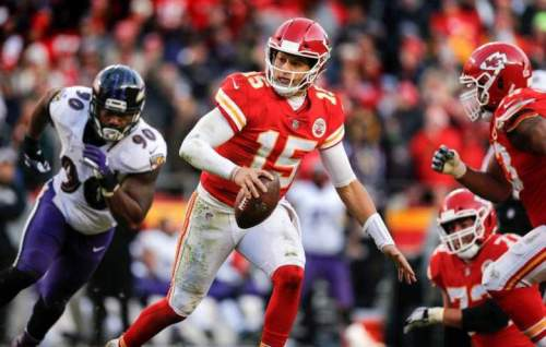 09676ab9f9c Patrick Mahomes was named the NFL s MVP and Offensive Player of the Year  after becoming the third player to throw for at least 50 touchdown passes  in a ...